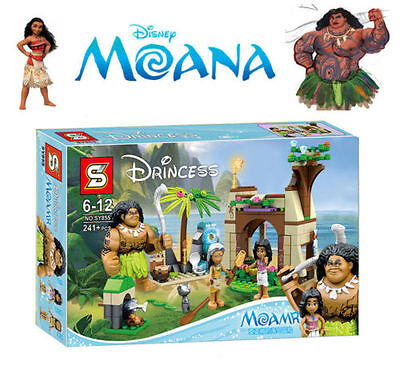 2017 Moana Mini Action Figures Doll Building Blocks Game Kids Educational Toys