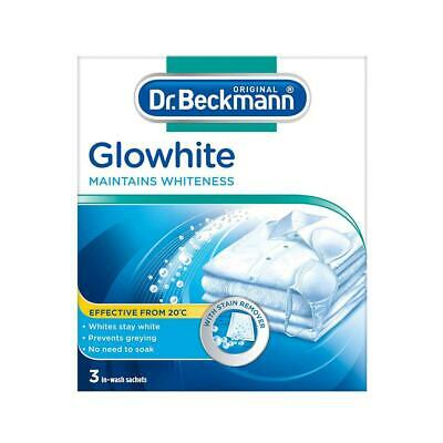 Dr Beckman Glowhite Intensive laundry Whitening Home Clothes 3 x 40g Sachet 4516
