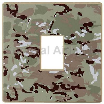 Multi-Terrain Camouflage Light Switch Cover