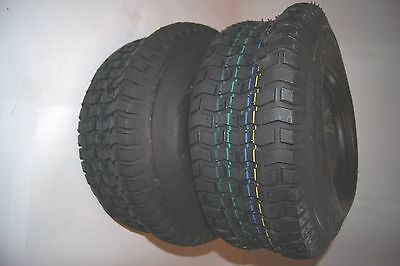2 x Lawn Mower Tires 18x8.50-8 WITH TUBE AS Angle Valve 18x8.50-8 4PR