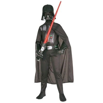 New Deluxe Darth Vader Star Wars Kids Halloween Costume Boys Child All Size