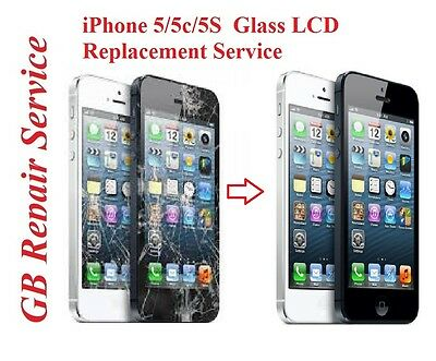 Apple iPhone 5 5C 5S  Complete Glass and LCD Replacement Repair Service