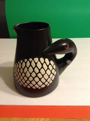 """Goose Ceramic Pitcher 8"""" Signed Collectible"""