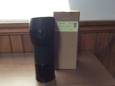 NEW Longaberger Stainless Steel Travel Mug - Black/Ebony