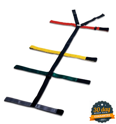 10 Point Heavy Nylon Spider Type Strap System W/ Reflective Strip For Spineboard