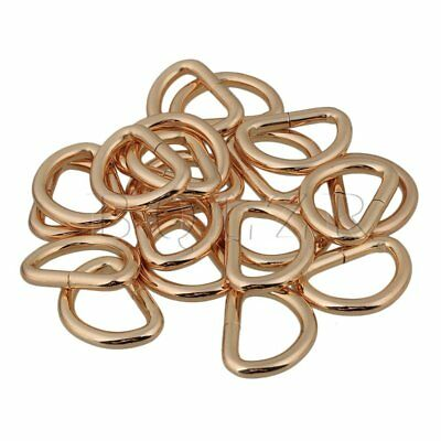 BQLZR 20pcs Metal 2.5cm D Rings Buckle for Webbing Hand Bags Leather Craft