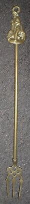 Vintage Brass Toasting Fork With Fisherman Handle (Bx7)