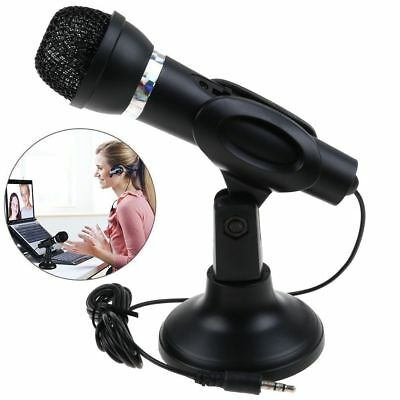 3.5mm Microphone Mic With Stand for PC Computer Laptop Notebook Skype Chat Voip
