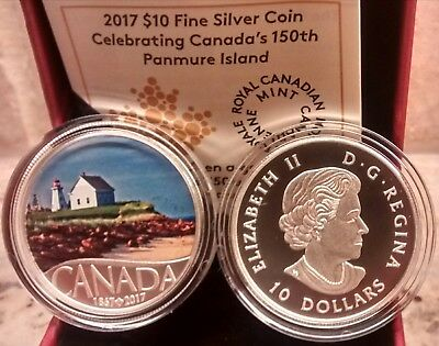 1867-2017 Panmure Island $10 Pure Silver Proof Coin Canada's 150th