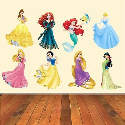 Disney princesses Vinyl Decal Wall Art Stickers - 8 Character Selection