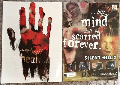 Silent Hill 2 Poster Ad Print Playstation 2 Pages Konami Rare Retro PS2