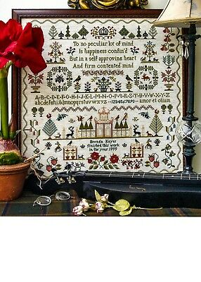 Sampler Chart - CONTENTED MIND - The Sampler Company. Counted Cross Stitch. New