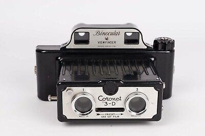 Coronet 3-D - Stereo camera with binocular viewfinder bakelite