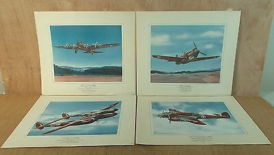 4 - WWII Canadian Military Bomber Bombing Planes Prints WW2
