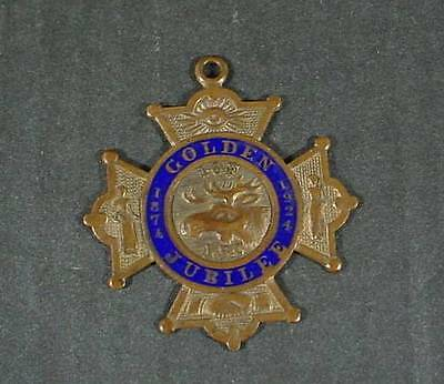 1924 IOF Independent Order of Foresters LBC Golden Jubilee Seeing Eye FOB