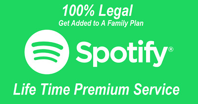 "Spotify Premium LIFETIME* (""Your own Personal Account"") Forever One time Payment"