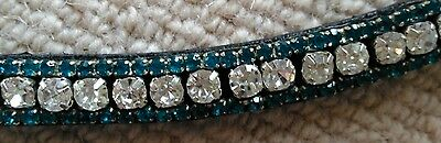 Browband,( full), black soft leather   with bling
