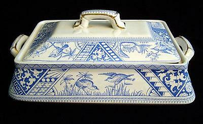 Antique Large Aesthetic Transferware Tureen ~ CONGO 1883