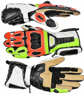 Premium Genuine Leather Motorcycle Motorbike Gloves Cow Hide Leather Racing