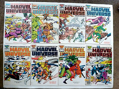 Official Handbook Of The Marvel Universe Deluxe #1,5-7,9-19 Comic Book Set