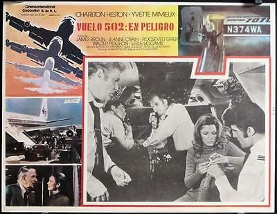 L534 SKYJACKED Mexican Lobby '72 airline pilot Charlton Heston, Yvette Mimieux