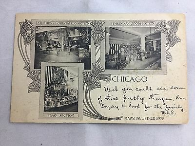 Vintage Marshall Field & Co. Chicago Department Store Postcard 1904