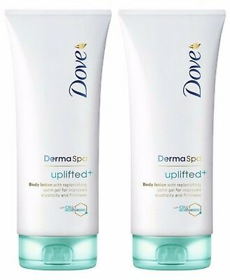 2 X Dove Derma Spa Uplifted+ Body Lotion 200Ml With Cell Moisturisers