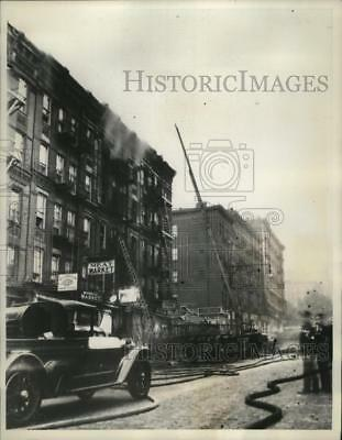 1936 PRESS PHOTO New York Bronx and Harlem buildings in epidemic of fires  NYC