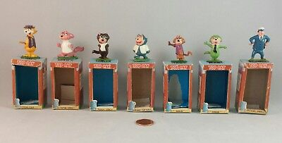 Marx Tinykins Top Cat Lot of Hanna-Barbera Figures Hand Painted and Boxes - 1961