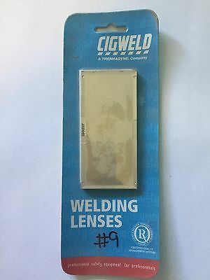 WELDING LENS GOLDEN PLATED SHADE 9 108 X 51mm. 1 X CLEAR LENSE