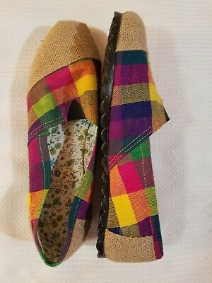 Women's Classic Canvas Slip Flats Shoes US Size 6  Guatemalan