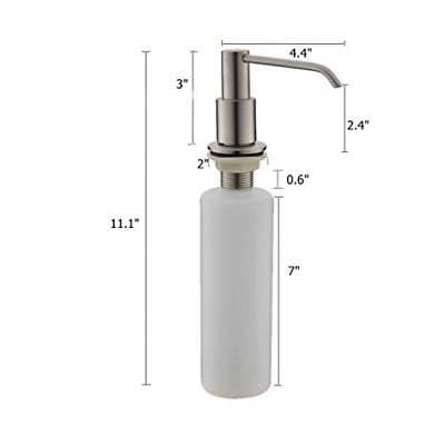 Commercial Brushed Nickel Stainless Steel Kitchen Sink Countertop Soap Dispenser