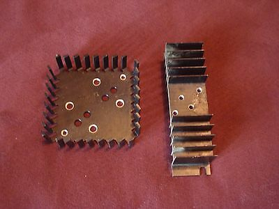 Lot of 2 Aluminum TO-3 Heatsink Black Anodized 1 Dual, 1 Single