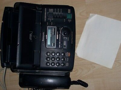 panasonic KX-FP185 plain paper fax machine,with user guide, used good working co