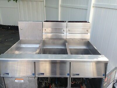 Pitco Natural Gas Fryer 4 Baskets and Dump Station.
