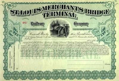 189_ St Louis Merchants Bridge Terminal RW Stock Certificate