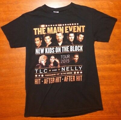 New Kids On The Block Tour T Shirt 2015 S Small NKOTB Nelly TLC The Main Event