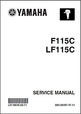 Yamaha F115 LF115 FL115 4-Stroke Outboard Motors Service Manual CD