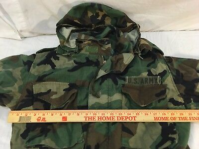 M-65 MILITARY MEDIUM Coat BDU  WOODLAND FIELD Cold Weather Staining W/ LINER
