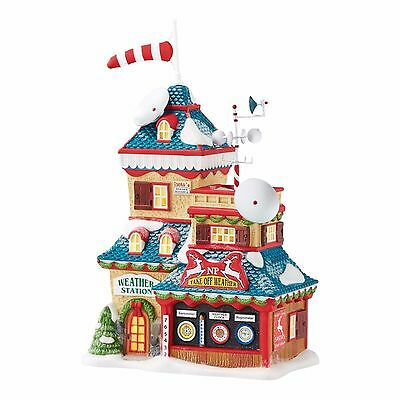 """Dept 56 North Pole """"NORTH POLE WEATHER STATION"""" New 2016 FREE SHIPPING"""