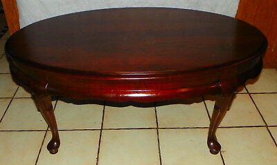 Delightful Solid Cherry Oval Coffee Table By Thomasville (RP CT163)