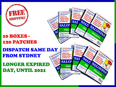 120 Patches Salonpas Pain Relieving Patch Hisamitsu - Free Shipping From Sydney