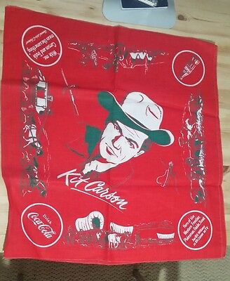1950's  Original Drink Coca-Cola Promotional Kit Carson Red Scarf-Bandana