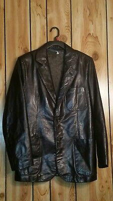 BEGED-OR Ladies Black Leather Jacket Womens Size 40 EU USA size med