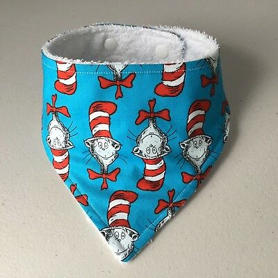 Handmade Baby Bandana / Dribble Bib ~ Cat In The Hat Design - Dr Seuss
