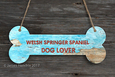Welsh Springer Spaniel  Aluminum Dog Bone Sign
