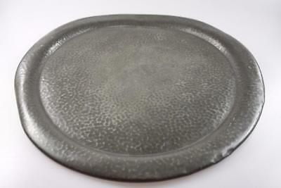 Antique Hand Made Pewter Plate