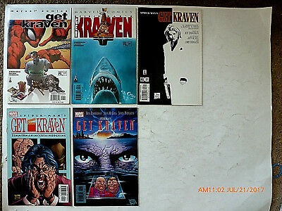 Marvel Comics Spider Man Get Kraven #1-5 Of 7 Comic Book Set! New!