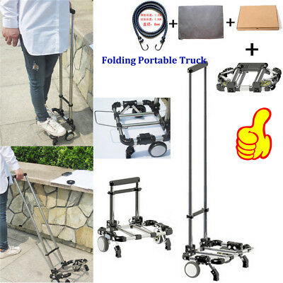 New Folding Portable Truck Trolley Luggage Cart Wheels for Shopping Travel 30kg