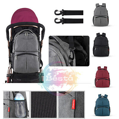 Baby Diaper Backpack Bag Mummy Nappy Changing Travel Backpack Bag *AU STOCK*